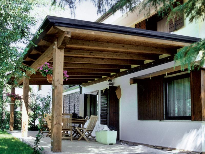progetto tettoia in legno pdf confortevole soggiorno